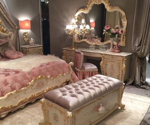pink, home, and bedroom image