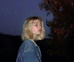 aesthetic, girl, and night image