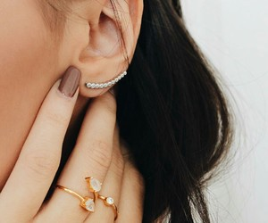 earrings, jewelry, and nails image
