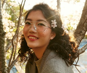 glasses, model, and cute image