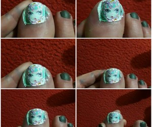 doll, nails, and patterns+ image