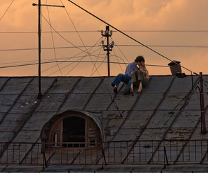 couple, mood, and roof image