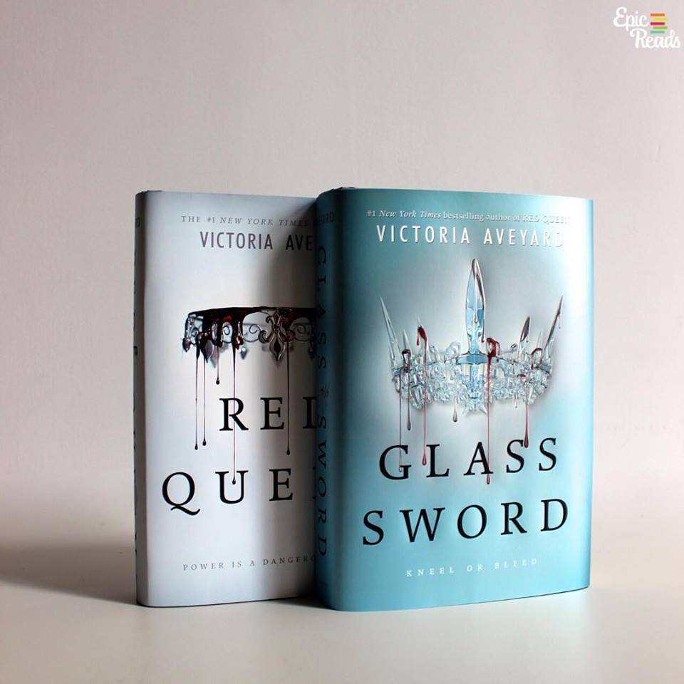 book, red queen, and glass sword image