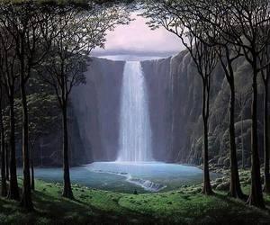 beautiful, nature, and waterfall image
