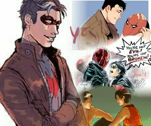 tim drake, jason todd, and jaytim image