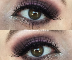 eyeliner, purple, and ‎mua‬ ‪ image