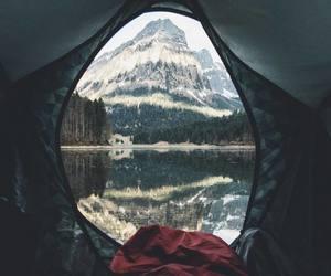 adventure, camping, and lake image