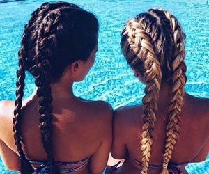 blonde, braid, and summer image
