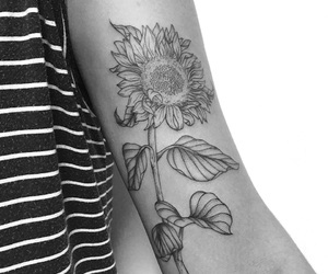 sunflower and tattoo image