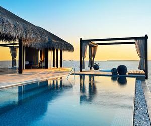 beach, pool, and ocean image