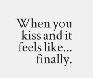 distance, kiss, and quote image