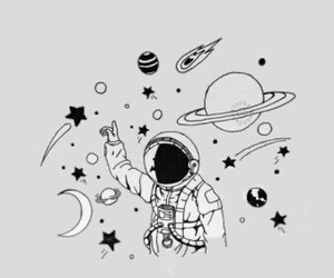 astronaut, planets, and space image