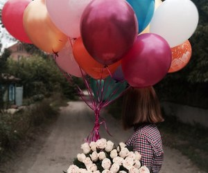 16, balloons, and birthday image