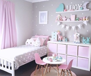 bedroom, girl, and pastel image