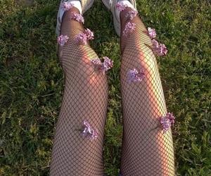 design, fishnet stockings, and girl image