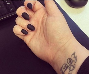black, stiletto, and nails image