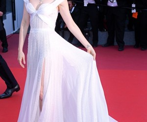 lily collins, dress, and cannes image