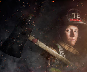 fire, yes, and firefighter image
