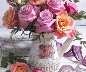 flowers, fleurs, and pink image