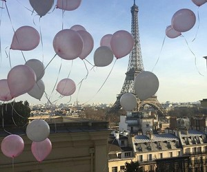 paris, balloons, and france image
