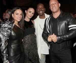 michelle rodriguez, jordana brewster, and Vin Diesel image