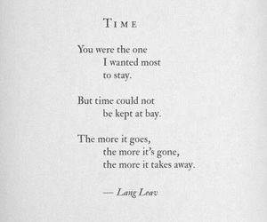 time, quotes, and Lang Leav image