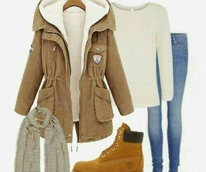 outfit, timberland, and winter image