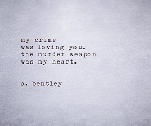 crime, poetry, and broken image