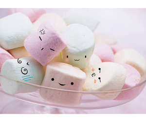 marshmallow, food, and sweet image