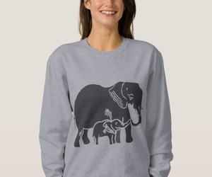 clothing, elephant, and elephants image