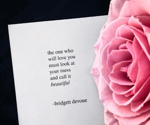 poetry, words, and pink+flower image