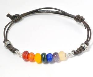 etsy, leather bracelet, and yoga bracelet image