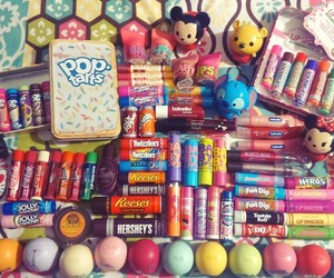 eos, burts bees, and lip smackers image
