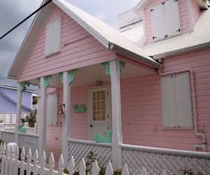 house, pink, and cute image