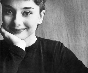 audrey hepburn, actress, and black and white image