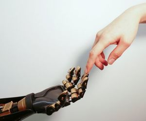 hand, hands, and robot image