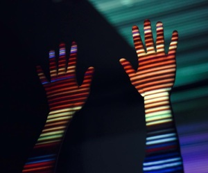 hands, colors, and light image