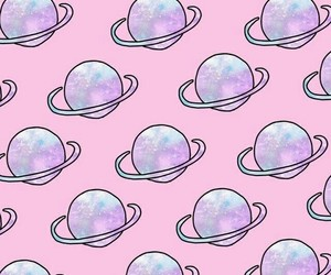 wallpaper, pink, and planet image