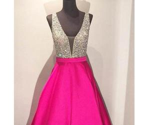 evening dress, prom dress, and satin image