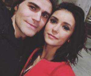 Nina Dobrev, paul wesley, and the vampire diaries image