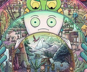 rick and morty, rick, and wallpaper image