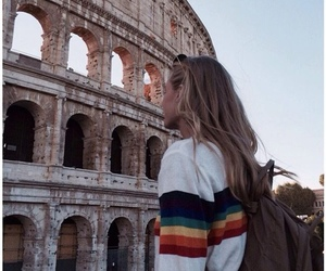 travel, girl, and rome image