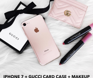 girly things, gucci, and iphone 7 plus image