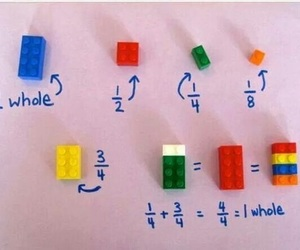 lego, fractions, and math image