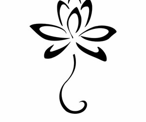 flower, lotus, and tattoo image