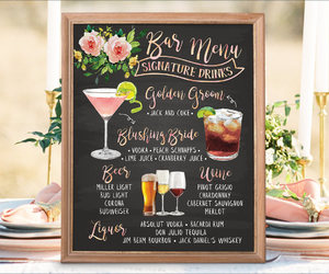etsy, menu, and wedding image
