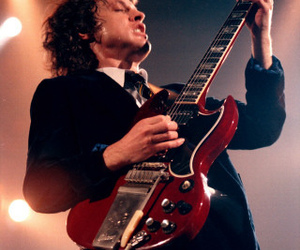 ACDC, angus young, and guitar image
