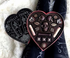 chocolate, goth, and heart image