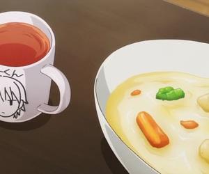 anime, mug, and yum image
