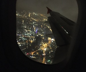 airplane, airport, and black image